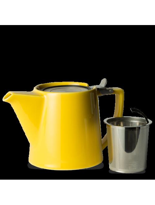 Porcelain Yellow Teapot &...