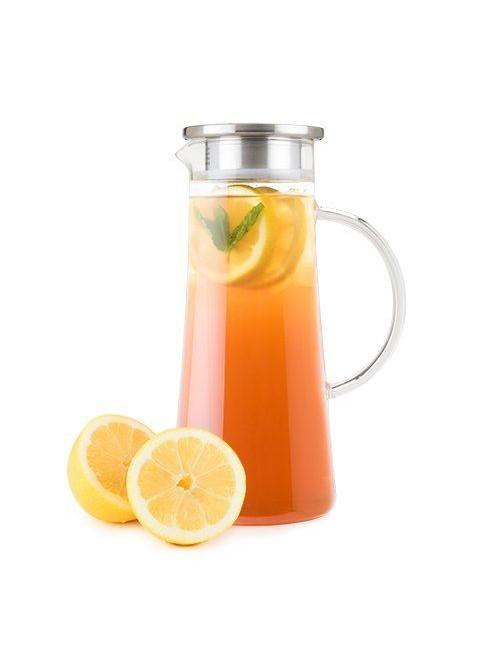 Glass Iced Tea Carafe with...