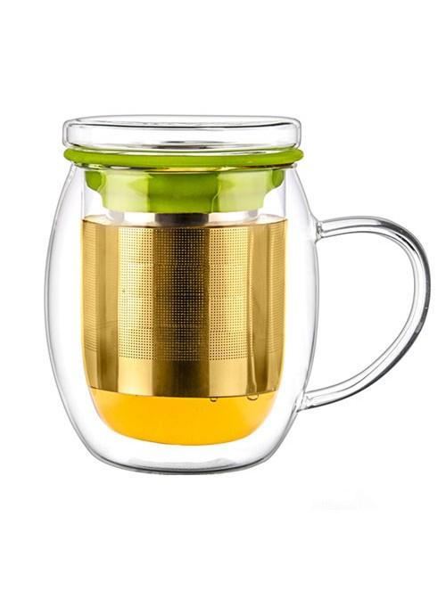 Double Wall Glass Tea Cup &...
