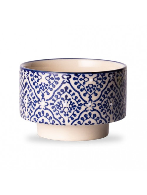 Classic Patterned Navy Tea Cup